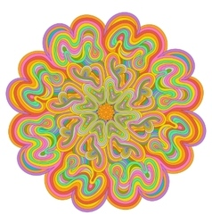 Vivid colored mandala for your design vector image