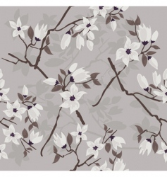 cherry branch pattern vector image vector image