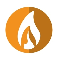 Flame fire glowing temperature hot yellow circle vector