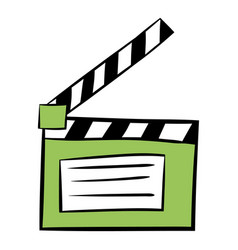 movie clapper icon cartoon vector image