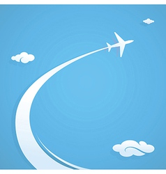 Plane flying in the sky vector image
