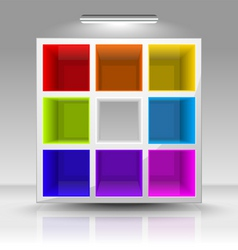 colored shelves vector image vector image