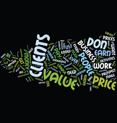 Eight ways to sell value not price text vector