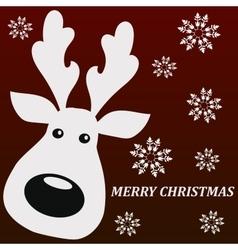 merry christmass deer vector image vector image
