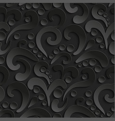 seamless 3d pattern with abstract flourish design vector image vector image
