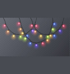 set of color garlands festive decorations vector image