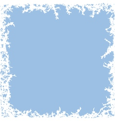 winter frost background vector image vector image