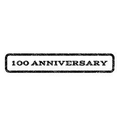 100 anniversary watermark stamp vector image