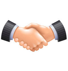 3d handshake icon isolated on white vector