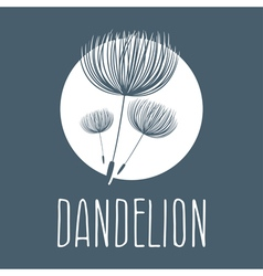 Abstract fluffy dandelion flower logo vector