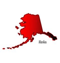 Alaska in halftone vector