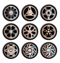 Aluminium wheels pack vector