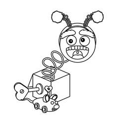 april fools day cartoon vector image