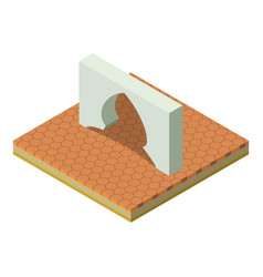 Arabic arch icon isometric style vector