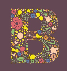 B letter color variant vector