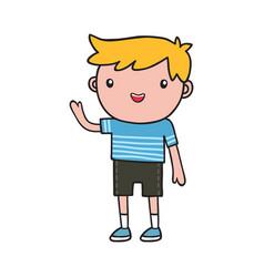 boy doodle vector image