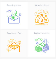 business and finance receiving money icon vector image
