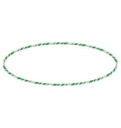 Candy cane frames border ellipse shape christmas vector