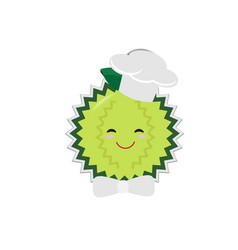 cartoon durian chef with paper shadow vector image