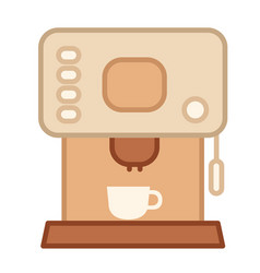 Coffee maker linecolor vector