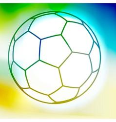 Contour watercolor soccer ball vector image