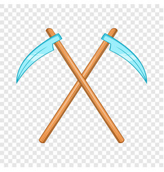 death scythe icon cartoon style vector image