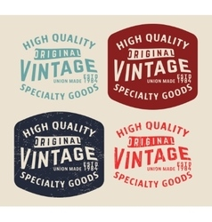 Denim vintage stamp vector image
