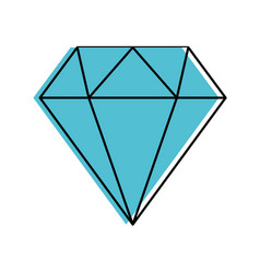 diamond figure isolated icon vector image