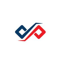 dp letter infinity logo vector image