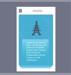 eiffel tower mobile vertical banner design design vector image