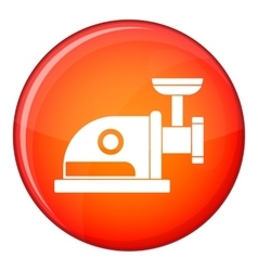 Electric grinder icon flat style vector