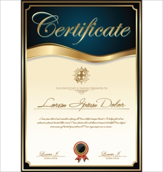 Elegant blue certificate template vector