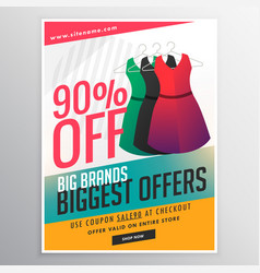 Fashion sale discount promotional brochure flyer vector