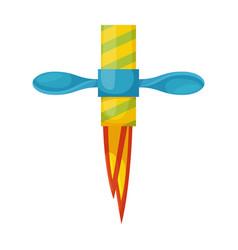 Firecracker iconcartoon icon vector