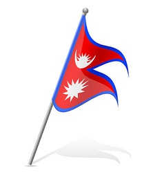 Flag of Nepal vector