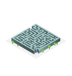 flat isometric labyrinth vector image