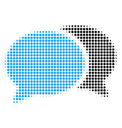 forum chat halftone icon vector image