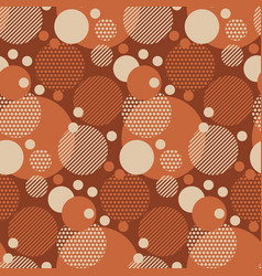 fun dotted circles seamless pattern for background vector image