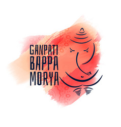ganpati bappa morya ganesha chaturthi festival vector image