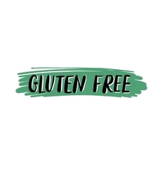 Gluten free hand written inscription on green vector