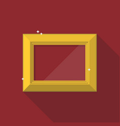 golden frame in flat style vector image