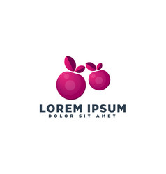 Grape fruit logo template element isolated vector
