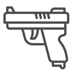 gun line icon self defense concept pistol sign vector image