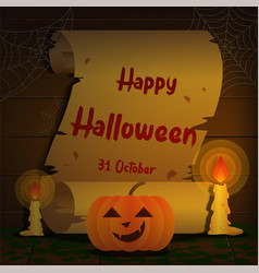 halloween on old paper vector image