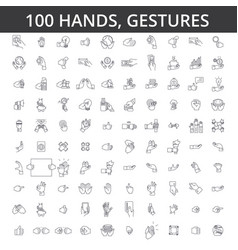 Hand gesture touch finger palm handshaking vector