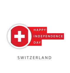 Happy switzerland independence day template design vector