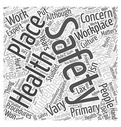 Health and safety Word Cloud Concept vector