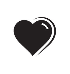 Heart icon black color vector