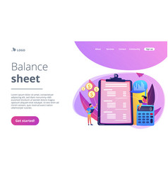 Income statement concept landing page vector