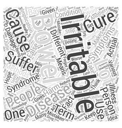 Irritable bowel disease Word Cloud Concept vector